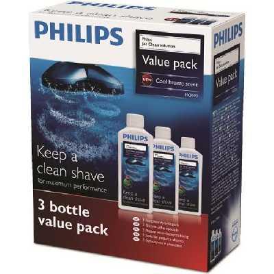 Accessoire rasoir - PHILIPS HQ203/50 Solution de nettoyage JetClean - 3 x 300ml