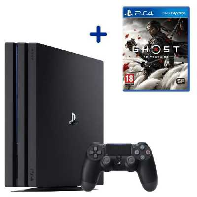 Console PS4 Pro 1To Noire/Jet Black + Ghost of Tsushima