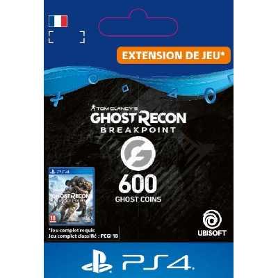 Code de téléchargement Ghost Recon Breakpoint 600 Ghost Coins PS4