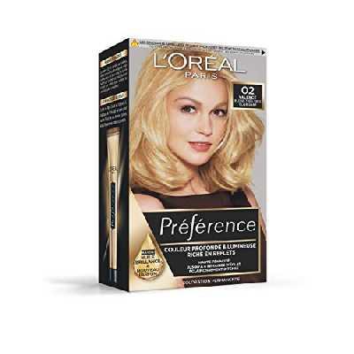 L'Oréal Paris Préférence Coloration Permanente Cheveux, Nuance : Valence (02), Blond Très Très Clair Doré