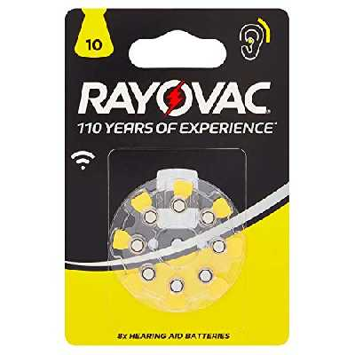 RAYOVAC Pile Auditive Za10 1.4V BL8