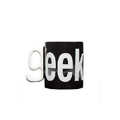 Thumbsup GEEKMUG Mug Geek, Céramique, Noir