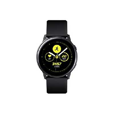Samsung - Montre Galaxy Watch Active - Noir Pure - Version Française