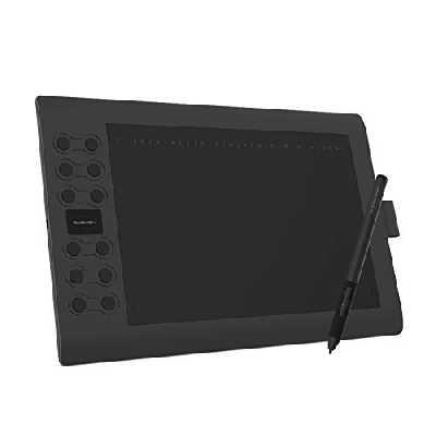 GAOMON M106K Pro Tablette Graphique - 10 * 6,25 Pouces Tablette à Stylet avec Stylet Passif à 8192 Niveaux de Pression et 12 Touches de Raccourci, Compatible avec Windows/Mac/Smartphone Android