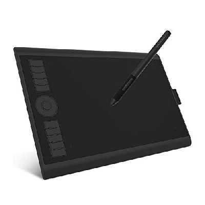 GAOMON M10K Pro 10 * 6,25 '' Tablette Graphique avec Stylet Passif à 8192 Niveaux de Pression et Support Fonction OTG